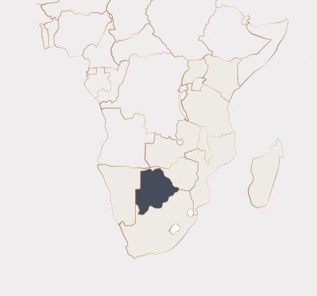 Africa Map - Botswana