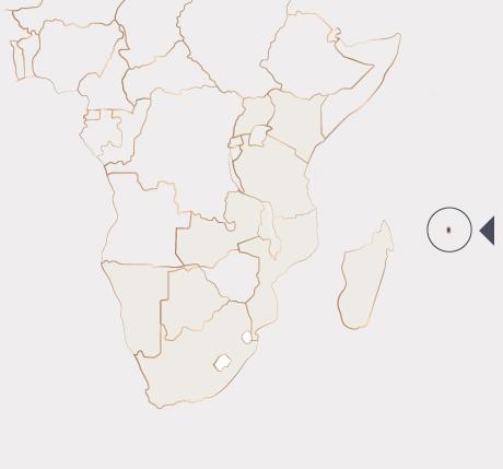 Africa Map - Mauritius