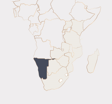 Africa Map - Namibia