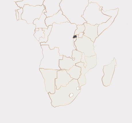 Africa Map - Rwanda