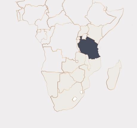 Africa Map - Tanzania