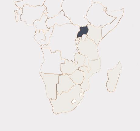 Africa Map - Uganda