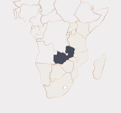 Africa Map - Zambia
